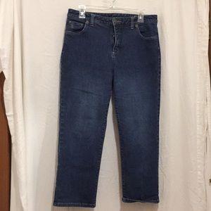 Lands End Ladies Blues Jeans Size 10 EUC
